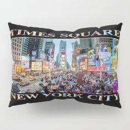 Times Square Tourists (on black) Pillow Sham