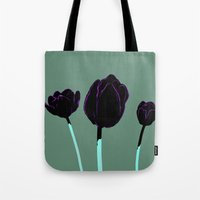 tulips Tote Bags featuring Tulips by Ludovic Jacqz