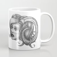 ram Mugs featuring Ram by Tooth & Arrow Co