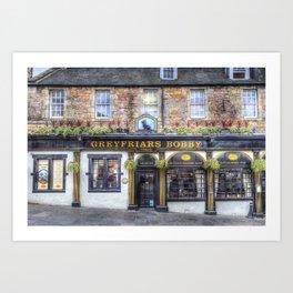 Greyfriars Bobby Pub edinburgh Art Print