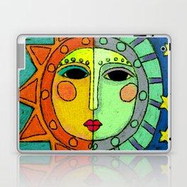 Moon and Sun Abstract Digital Painting Laptop & iPad Skin