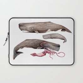 Sperm whale family Laptop Sleeve