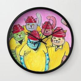 Ohio Cats Wall Clock
