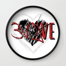 MHiCreates: EVOLVE with Love in double heart  Wall Clock