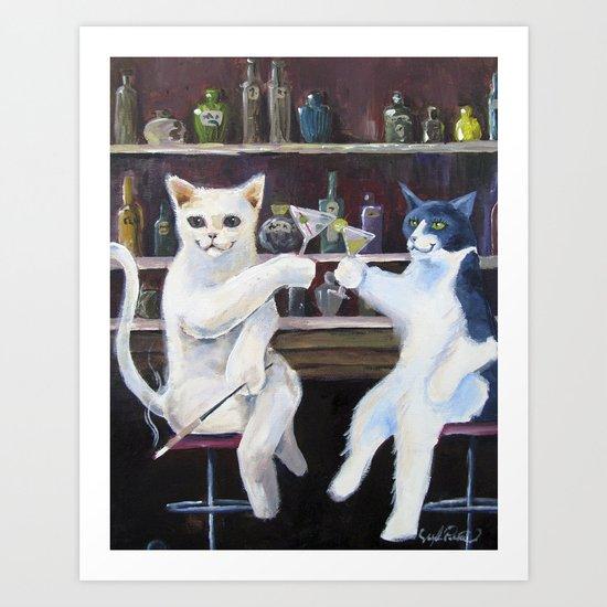 Social Cats  Art Print