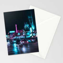 Neon City Stationery Cards