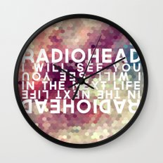 Radiohead: I Will See You in the Next Life Wall Clock