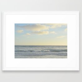 Pastel Sunset Framed Art Print