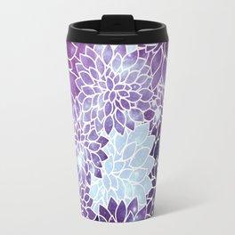 Space Dahlias Purple Ice Travel Mug