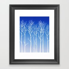 Cottonwood (white) Framed Art Print