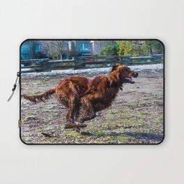 Irish Setter running full gallop Laptop Sleeve