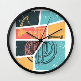 French Horn Retro Funny print French Horn Player Gift Wall Clock