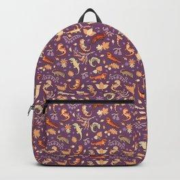 Autumn Geckos in purple Backpack
