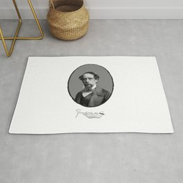 Authors - Charles Dickens Rug