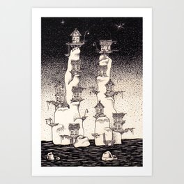 The old towers Art Print