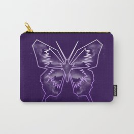 Galactica Purple Butterfly Carry-All Pouch
