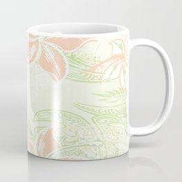 Coral Hibiscus Jungle Print Coffee Mug