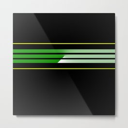 Team Colors 5....green , yellow Metal Print