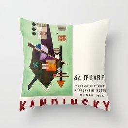 Kandinsky Exhibition poster 1957 Throw Pillow