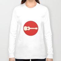 guitar Long Sleeve T-shirts featuring Guitar by Ersen-T