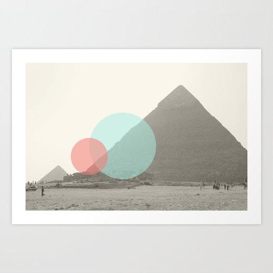 Pyramid//Seven Art Print