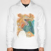 charizard Hoodies featuring Charizard by Luke Jonathon Fielding
