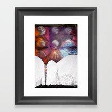 Lunar Flowering  Framed Art Print