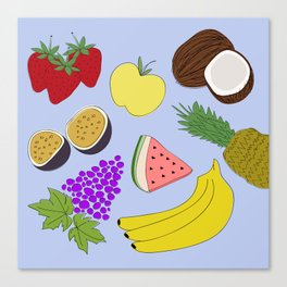 Fruit! in Sky Blue Canvas Print