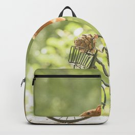 squirrel on a bicycle Backpack
