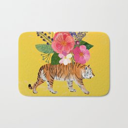 Tiger Bloom Bath Mat
