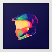 master chief Canvas Prints featuring Master Chief by Jonathan Trier