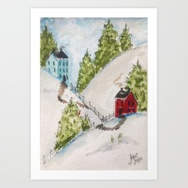 Neighbors in New England Art Print