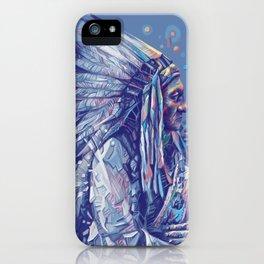 native american portrait-sitting bull iPhone Case