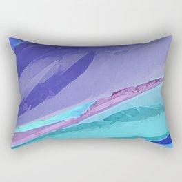 Silky Pastel Waves Rectangular Pillow