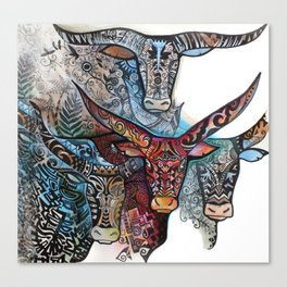 Torro   Tatoo  Graphic  - Artist Oxana Zaika Canvas Print