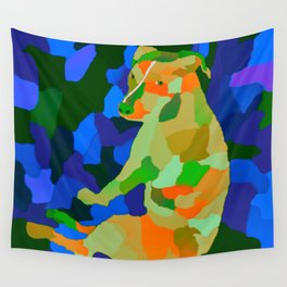 Camo Petra the pitbull color palate two Wall Tapestry