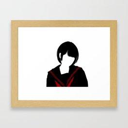 Japanese High School Uniform Girl - JK Girl Framed Art Print