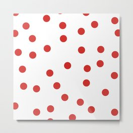 red spotted Metal Print