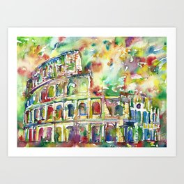 COLOSSEUM - watercolor painting Art Print