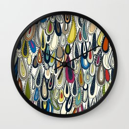 festival droplets Wall Clock