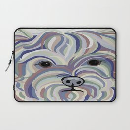Yorkie Denim Colors Laptop Sleeve