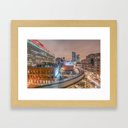 2 Trains Framed Art Print