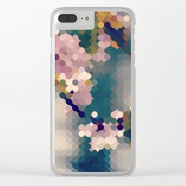 sophie - abstract edit of pink cherry blossoms Clear iPhone Case