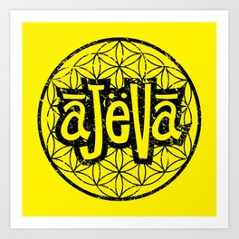 Ajeva Logo Yellow Art Print