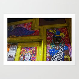 New Orleans Bourbon Street Mural Art Print