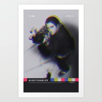 nightcrawler Art Prints featuring Nightcrawler movie poster by Adam Juresko
