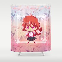 chibi Shower Curtains featuring Chibi Hikaru by Neo Crystal Tokyo