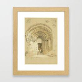 Grand West Entrance, Jedburgh Abbey, September 19th, 1846 by David Roberts Framed Art Print