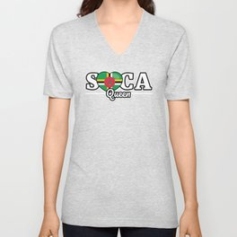 Soca Music Queen gift : Jamaica Carnival Wining Dancing Gift, Grinding Dance Caribbean Culture Party Unisex V-Neck