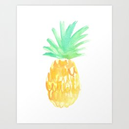 Salty Pineapple Art Print